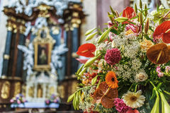 Sts Michael kyrka, Olomouc, Moravia Arkivbild