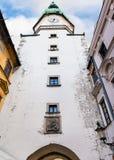 Sts Michael torn av den Michael porten i Bratislava Royaltyfri Fotografi