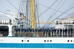 STS MIR crew members Royalty Free Stock Photo