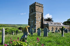 Sts Nicholas kyrka, Abbotsbury Royaltyfria Foton