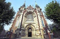Sts Olha e Elizabeth, Lviv Imagens de Stock