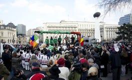 Sanktt Patricks dag i Bucharest 3 Arkivbilder