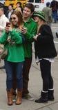 Sts Patrick dag Selfie NYC Tom Wurl Arkivbild