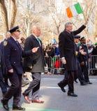 Sts Patrick dag ståtar i New York City mars 16, 2019 fotografering för bildbyråer