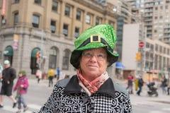 Sts Patrick dag ståtar i Toronto Arkivbilder