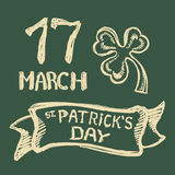 Sts Patrick dagbakgrund Arkivbilder