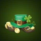 Sts Patrick dagbakgrund royaltyfri illustrationer