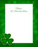Sts Patrick dagbakgrund med kortet Arkivbilder