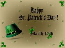 Sts Patrick daghälsning Arkivfoton