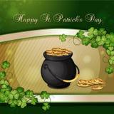 Sts Patrick dagkort Royaltyfri Foto