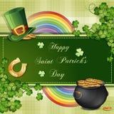 Sts Patrick dagkort Royaltyfri Bild
