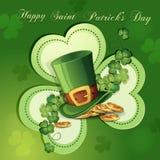Sts Patrick dagkort Fotografering för Bildbyråer