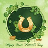 Sts Patrick dagkort Arkivbild