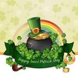 Sts Patrick dagkort Royaltyfria Bilder