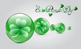 Sts Patrick dagkort vektor illustrationer