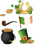 Sts Patrick dagsymboler Arkivbild