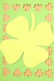 Sts Patrick för hälsningkort dag Arkivfoto