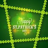 Sts Patrick kort för hälsning eller för inbjudan för dagberöm Royaltyfri Fotografi