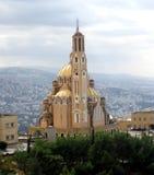 Sts Paul domkyrka - domkyrkan av missionärerna av St Paul - Harissa, Beiruth, Libanon Arkivbild