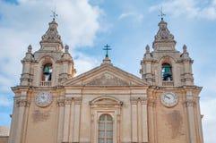 Sts Paul domkyrka i Mdina, Malta arkivbild