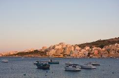 Sts Paul fjärd, Malta Royaltyfri Bild