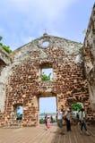 Sts Paul kyrka i Malacca Arkivfoto