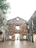 Sts Paul kyrka i Melaka Malaysia Royaltyfria Foton