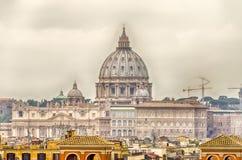 Sts Peter Basilica, Rome Arkivbild