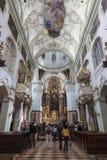 Sts Peter basilika i territoriet av abbotskloster av St Peter, Salzburg Arkivbilder