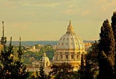 Sts Peter basilika Vatican City Rome Italien Royaltyfri Bild