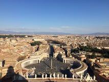 Sts Peter basilikabasilika i Vatican City Arkivbild