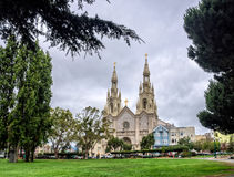 Sts Peter en Paul Church in San Francisco stock fotografie