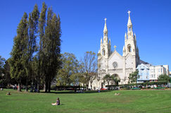 Sts. Peter i Paul kościół w San Frascisco - usa Obrazy Stock
