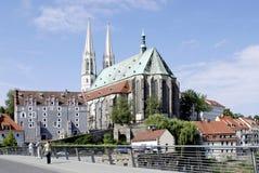 Sts Peter kyrka av Goerlitz i Sachsen Royaltyfria Bilder
