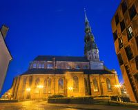 Sts Peter kyrka, Riga royaltyfri fotografi