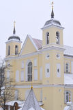 Sts. Peter and Paul Orthodox Church, Minsk. Famous Sts. Peter and Paul Orthodox Church in winter time, Minsk Belarus Stock Image