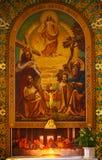 Sts. Roman Simeon och Elena - katolsk kyrka Royaltyfri Foto