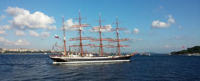 STS Sedov Седов , four-masted steel barque. STS Sedov Седов is a four-masted steel barque. Formerly Magdalene Vinnen II and stock photography