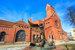 Sts Simeon en de rooms-katholieke kerk van Elena Stock Foto's