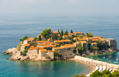 Sts Stephen ö i Montenegro Royaltyfria Foton