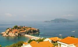 Sts Stephen ö, Montenegro Arkivbild