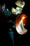 Stt welding. A craftsman stt welding pipe Royalty Free Stock Image