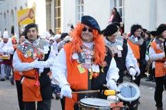 Ståta av orkesterar på den tyska karnevalet Fastnacht Royaltyfri Fotografi