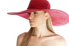 sätta på land hatten Arkivbilder