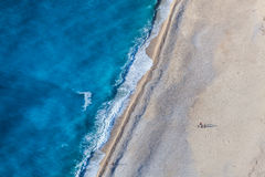 sätta på land myrtos Royaltyfri Fotografi