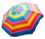 sätta på land paraplyet Fotografering för Bildbyråer