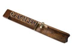 sättande ihop mahognystick Royaltyfri Bild