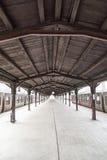Sttion d'annata del treno Fotografie Stock Libere da Diritti
