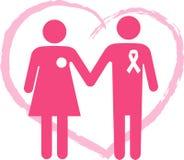Stötta en bröstcanceröverlevande Arkivbild