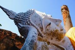 Stützender Buddha an Wat Yai Chai Mongkhon Old-Tempel Lizenzfreies Stockfoto